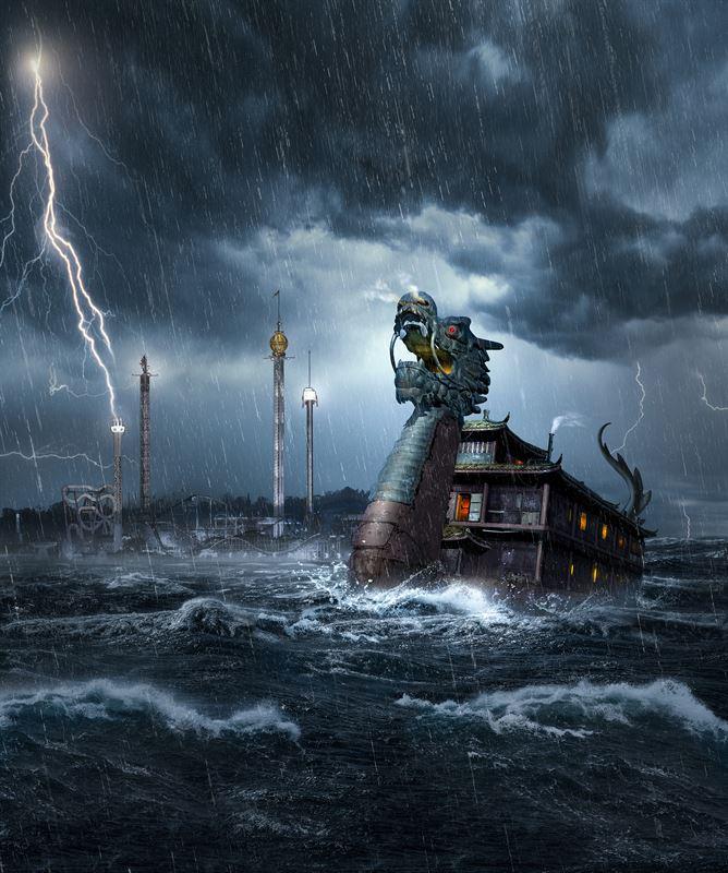 ... stormig natt glidit in mot Saltsjön och fäst sina rostiga kättingar  längst med Gröna Lunds kajsida. Skeppets besättning går inte att finna  någonstans 893126c9e6867