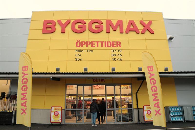 Stenungsund 23112018 avattu myyml  ensimminen myyml jossa Byggmaxin uusi graafinen ilme