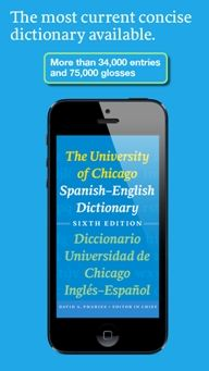 University of Chicago Spanish-English Dictionary App for iPhone now