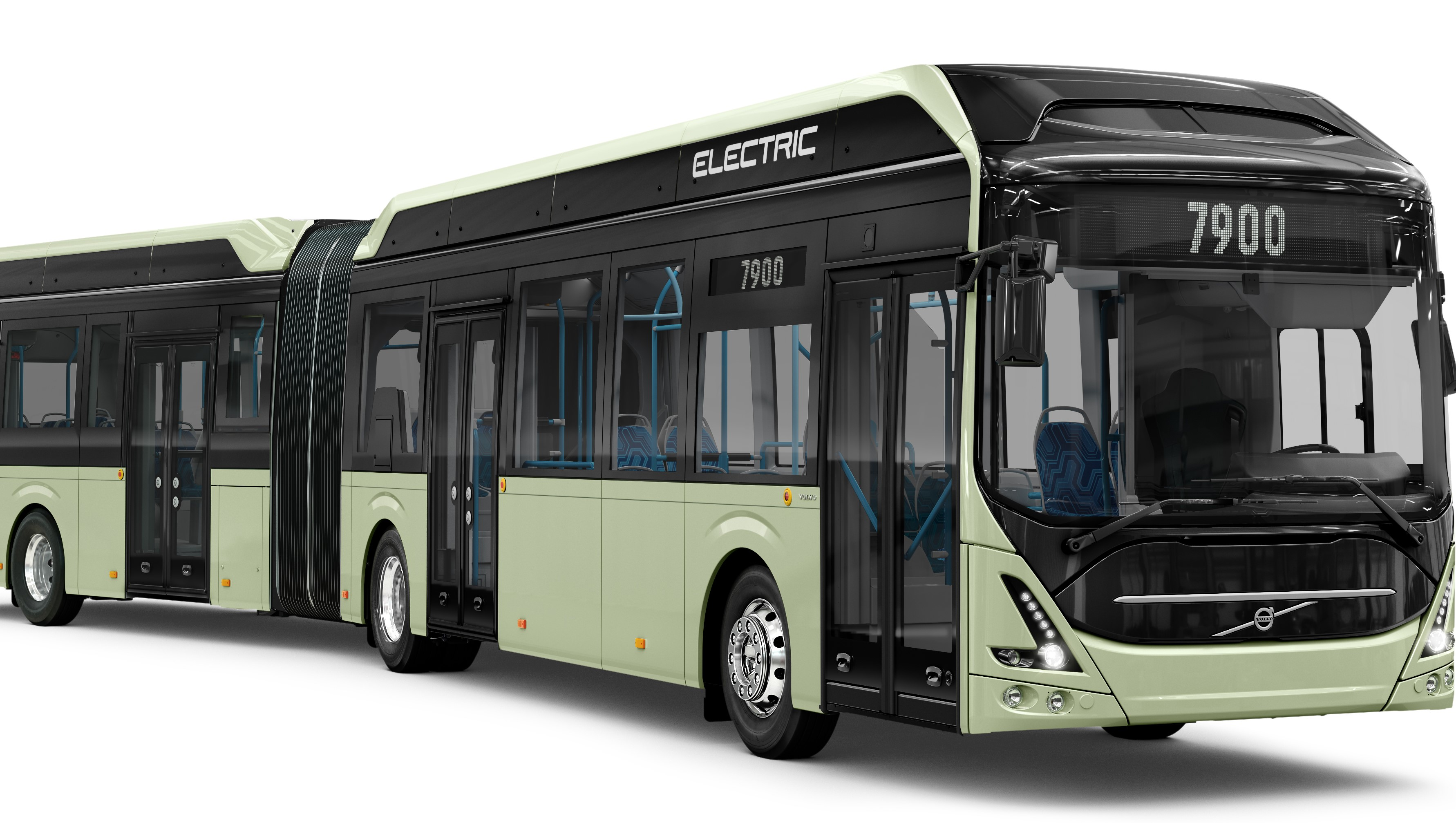 Volvo Presents New Electric Articulated Bus Higher