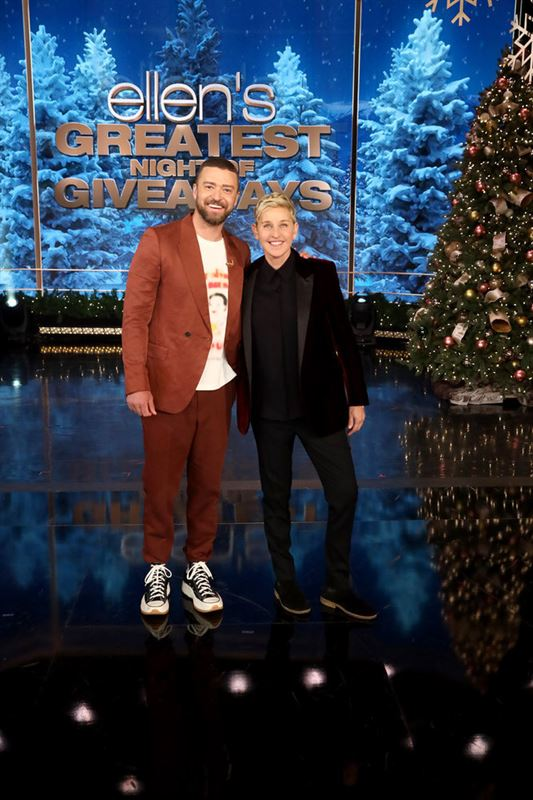 ELLEN'S GREATEST NIGHT OF GIVEAWAYS' CONCLUDED TONIGHT WITH SPECIAL GUESTS  JUSTIN TIMBERLAKE AND JASON MOMOA SHARING INCREDIBLE GIFTS WITH INSPIRING  PEOPLE | NBCUniversal Media Village