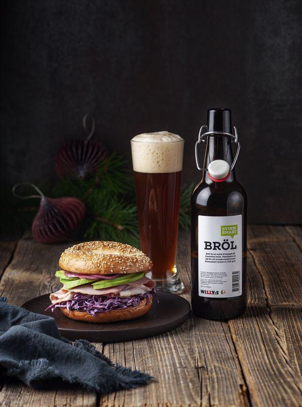 Bagel med öl