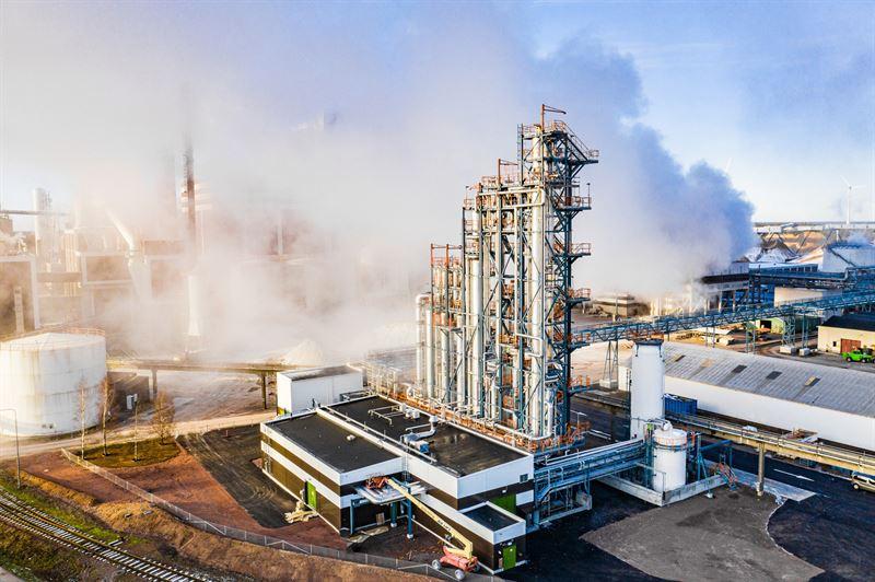 Biometanolfabrik / Biomethanol facility