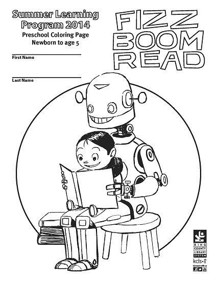 Kcls Preschool Summer Learning Coloring Page King County Library System