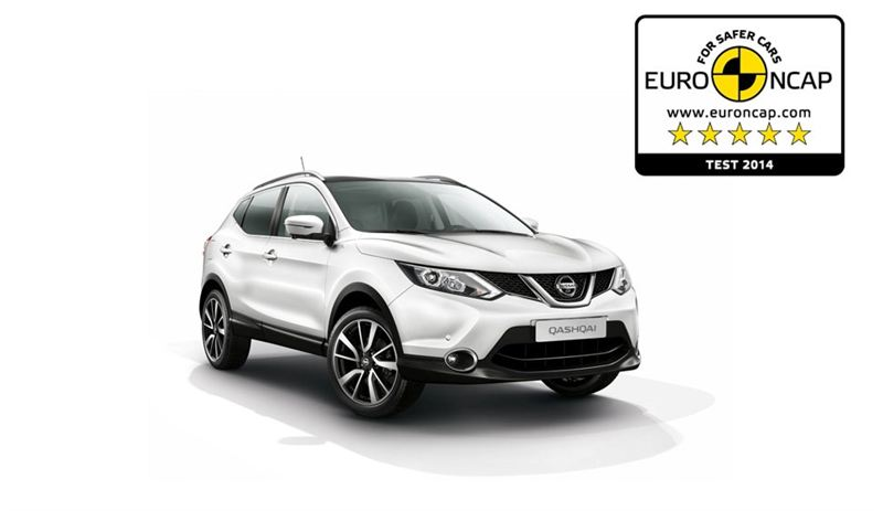 Nissan Qashqai Test >> Uudelle Nissan Qashqaille Taydet 5 Tahtea Euroncap Testissa