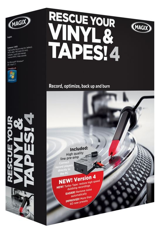 New Magix Rescue Your Vinyl Amp Tapes Version 4 Kl Associates