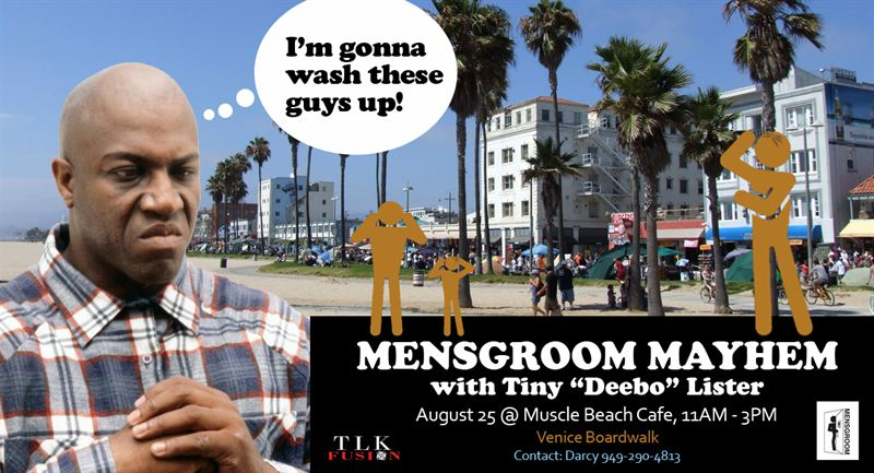 """aeb138116 ... 2012 come and join TLK Fusion, MENSGROOM, and Tiny """"Deebo"""" Lister  (@TinyDEBOlister) from the hit movie Friday at The Muscle Beach Café from  11AM to 3PM."""