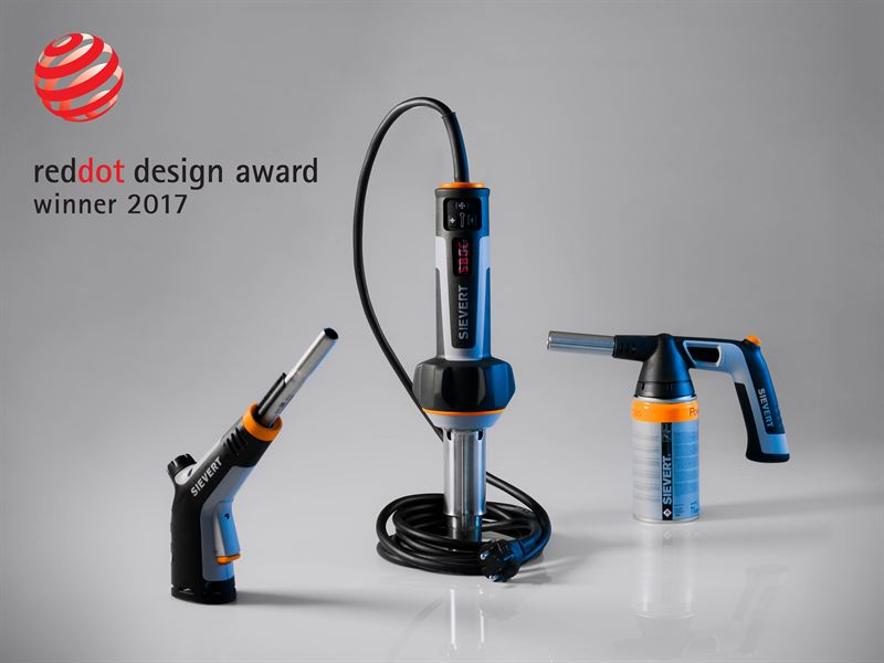 Sievert's much praised hot-air tool wins prestigious Red Dot