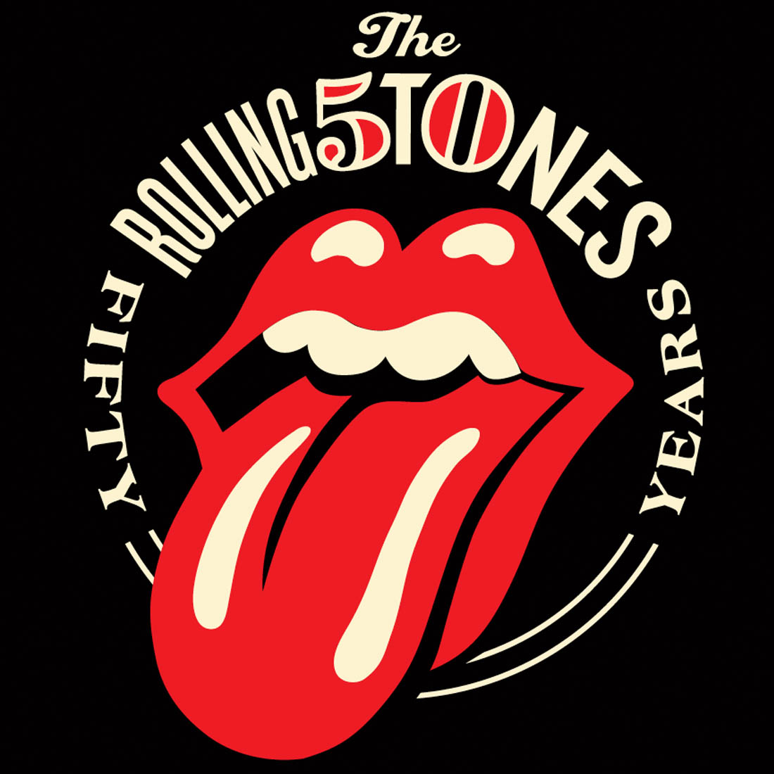 rolling stones logo rs 50 visual