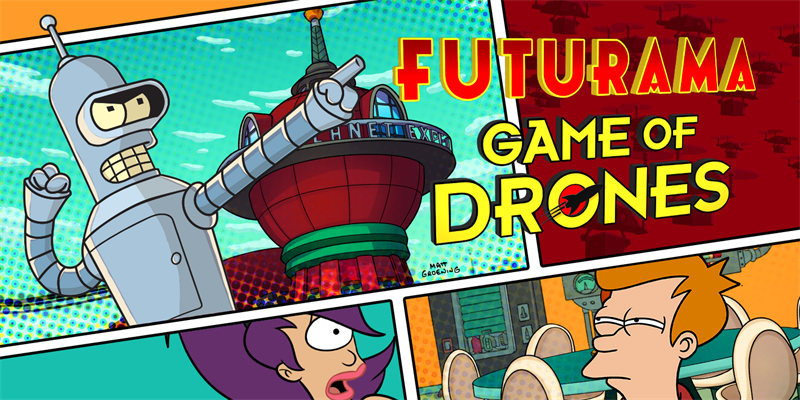 Berlin, Germany - February 25th, 2016: Wooga, Fox Digital Entertainment,  and Matt Groening are excited to announce that FUTURAMA: Game of Drones is  now ...