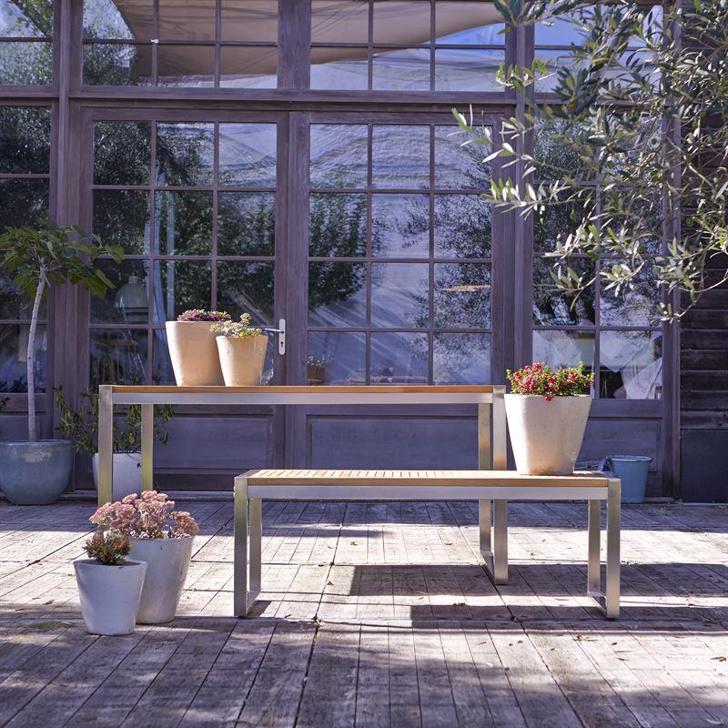Outdoorsitzgruppe aus Teak und Inox Arno 999