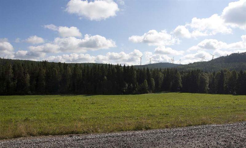 Fotomontage av Hgaliden vindkraftpark