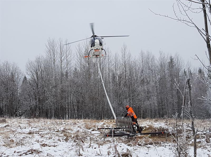 Rjning med helikopter elnt