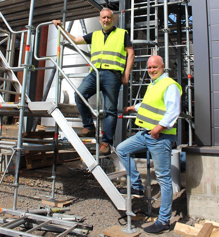 Joakim Larsson sgverkschef Norra Timber Kge sg och Ulf Hedqvist affrsenhetschef vrme Skellefte Kraft