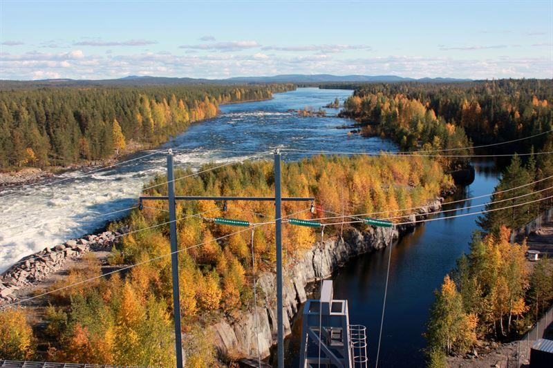 Frsta tta mnaderna av 2021 har inneburit god vattenkraftsproduktion fr Skellefte Kraft