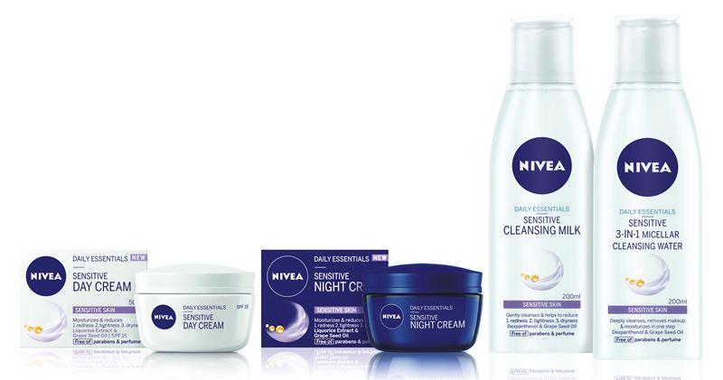 Nya NIVEA Sensitive-serien med ansiktsprodukter för känslig hud 49b2c5d5c908e