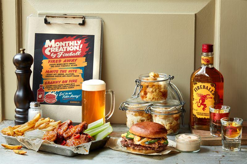 Fireball Barrels Burgers and Beer