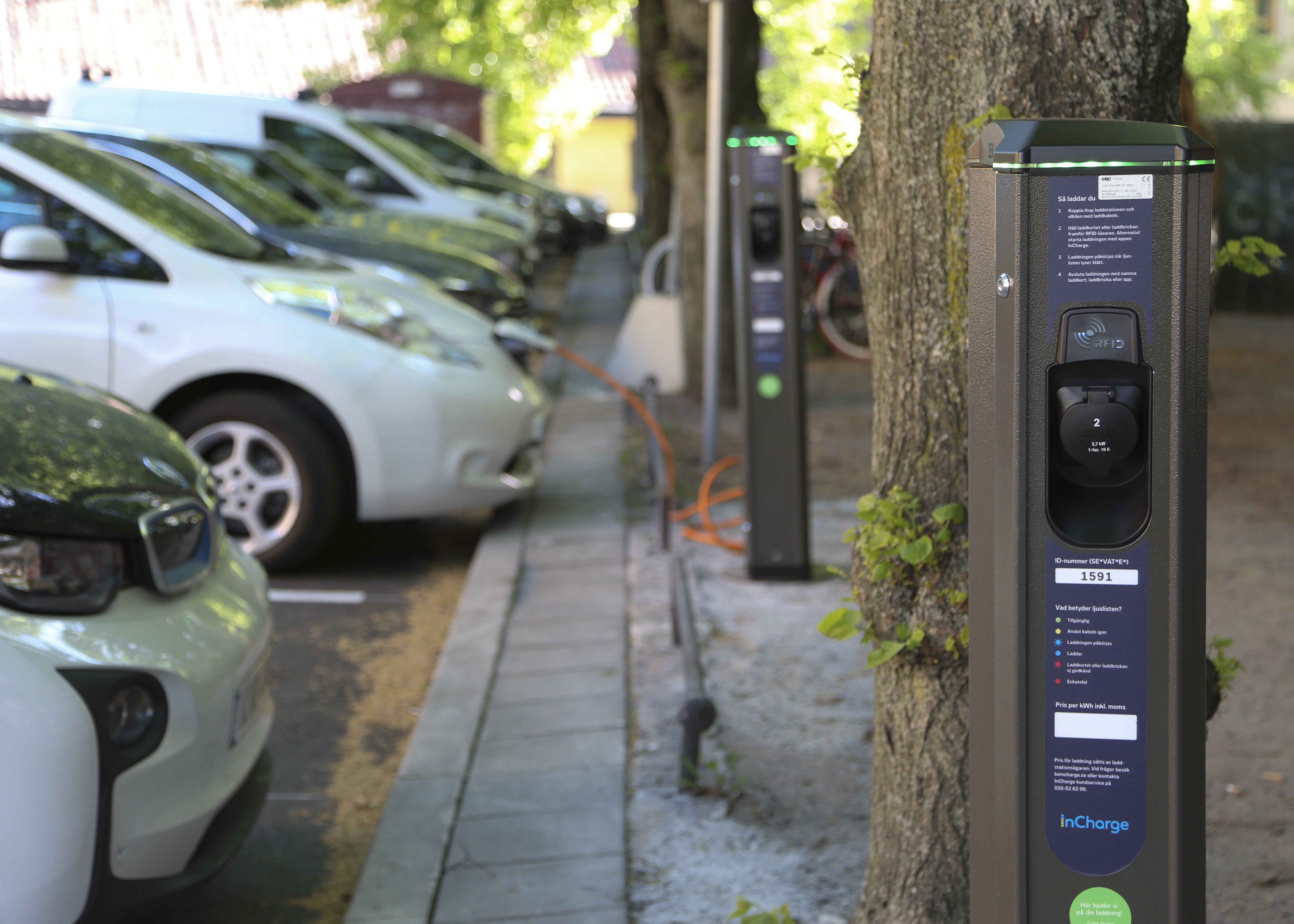 Charging street in Stockholm