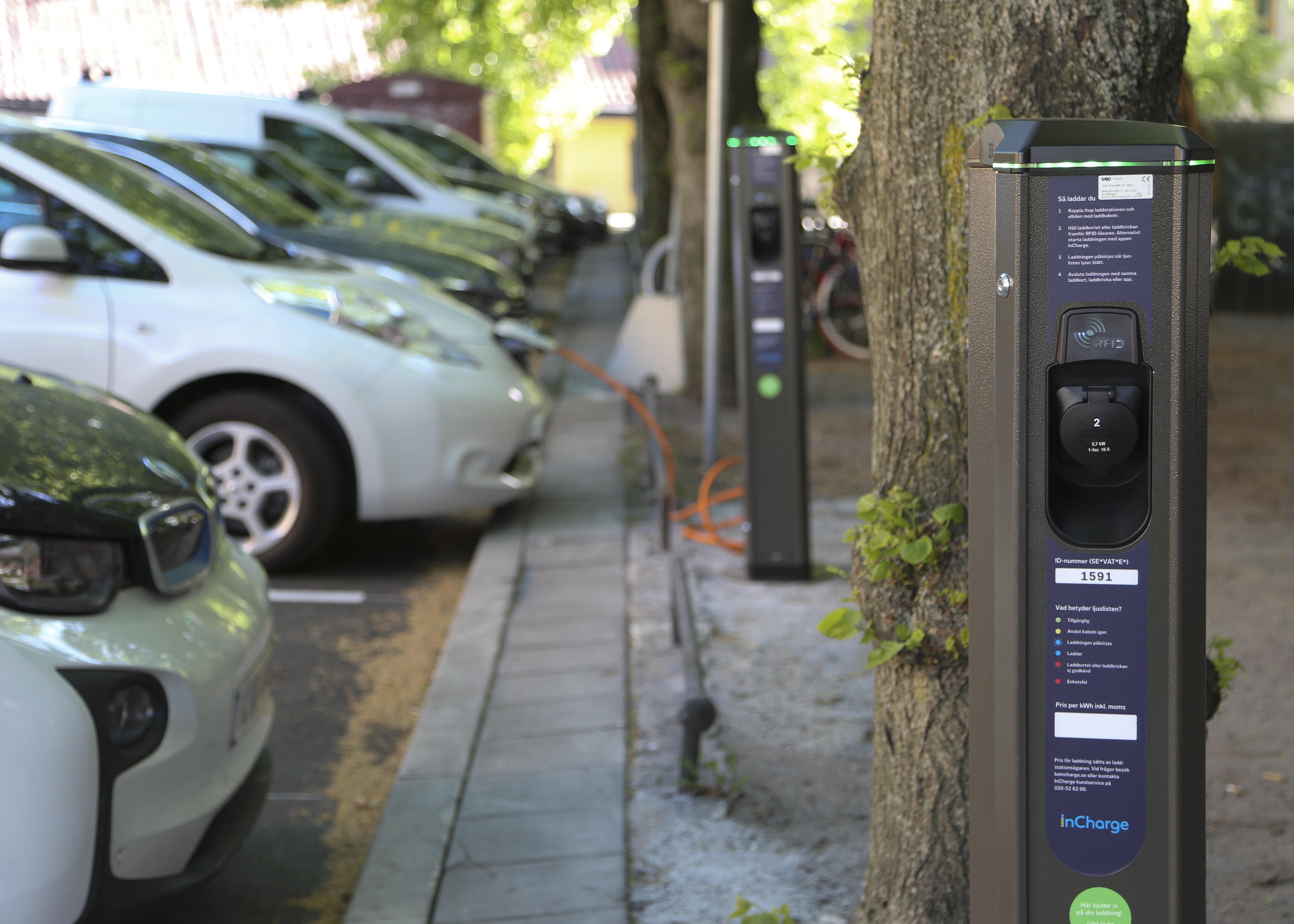 Charging street in Stockholm