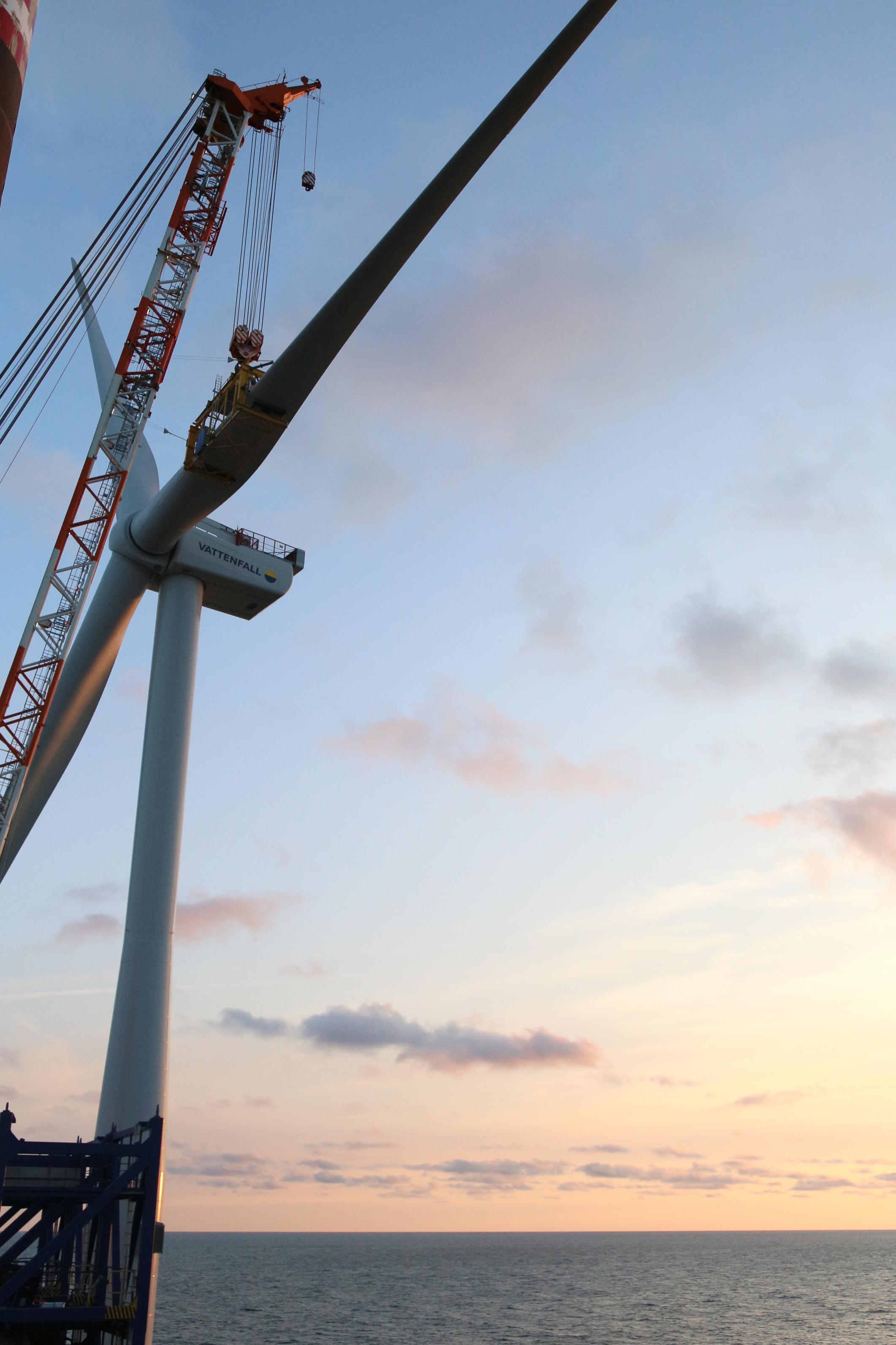 First turbine installed