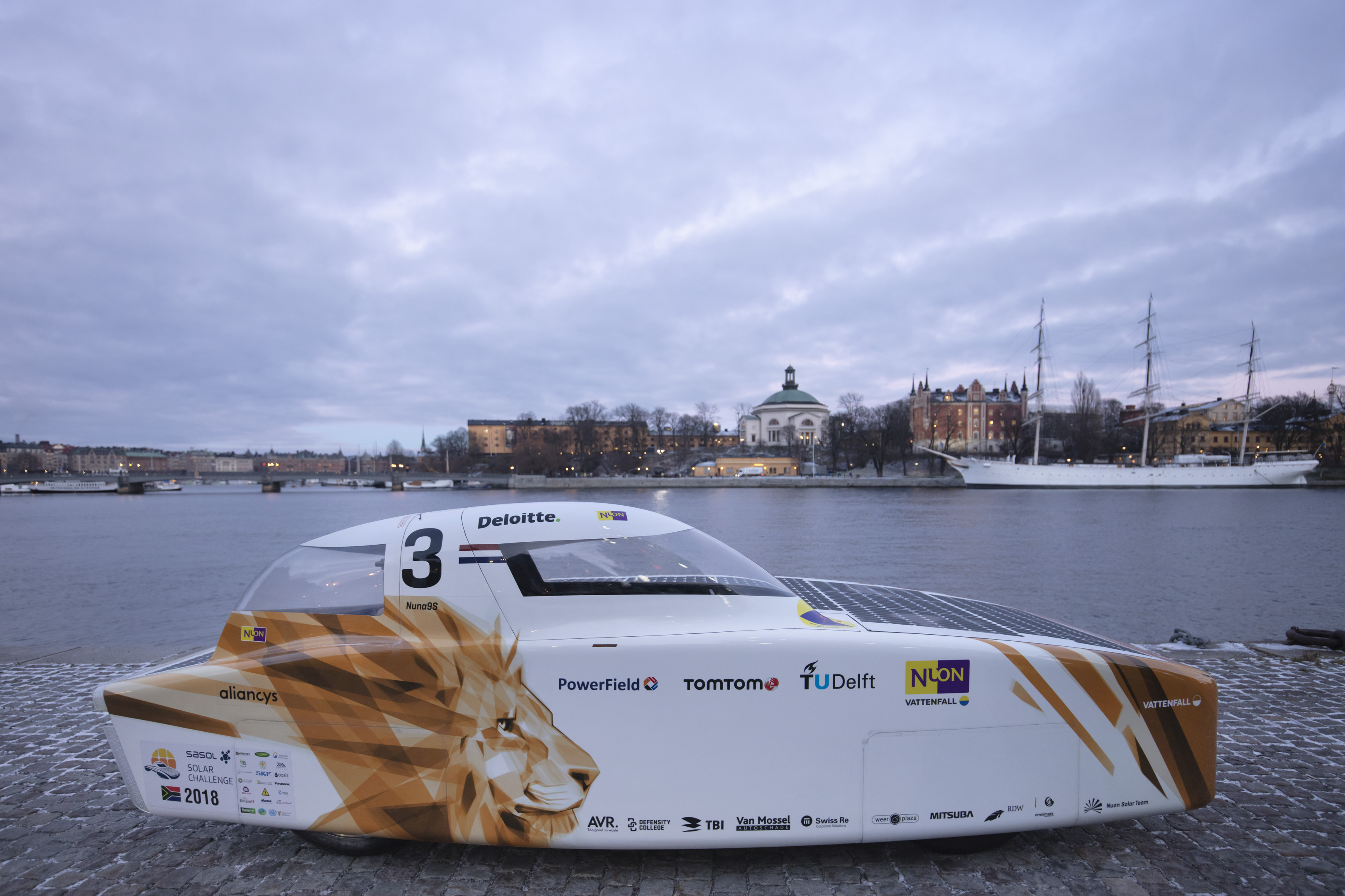 Solbilen Nuna i Stockholm