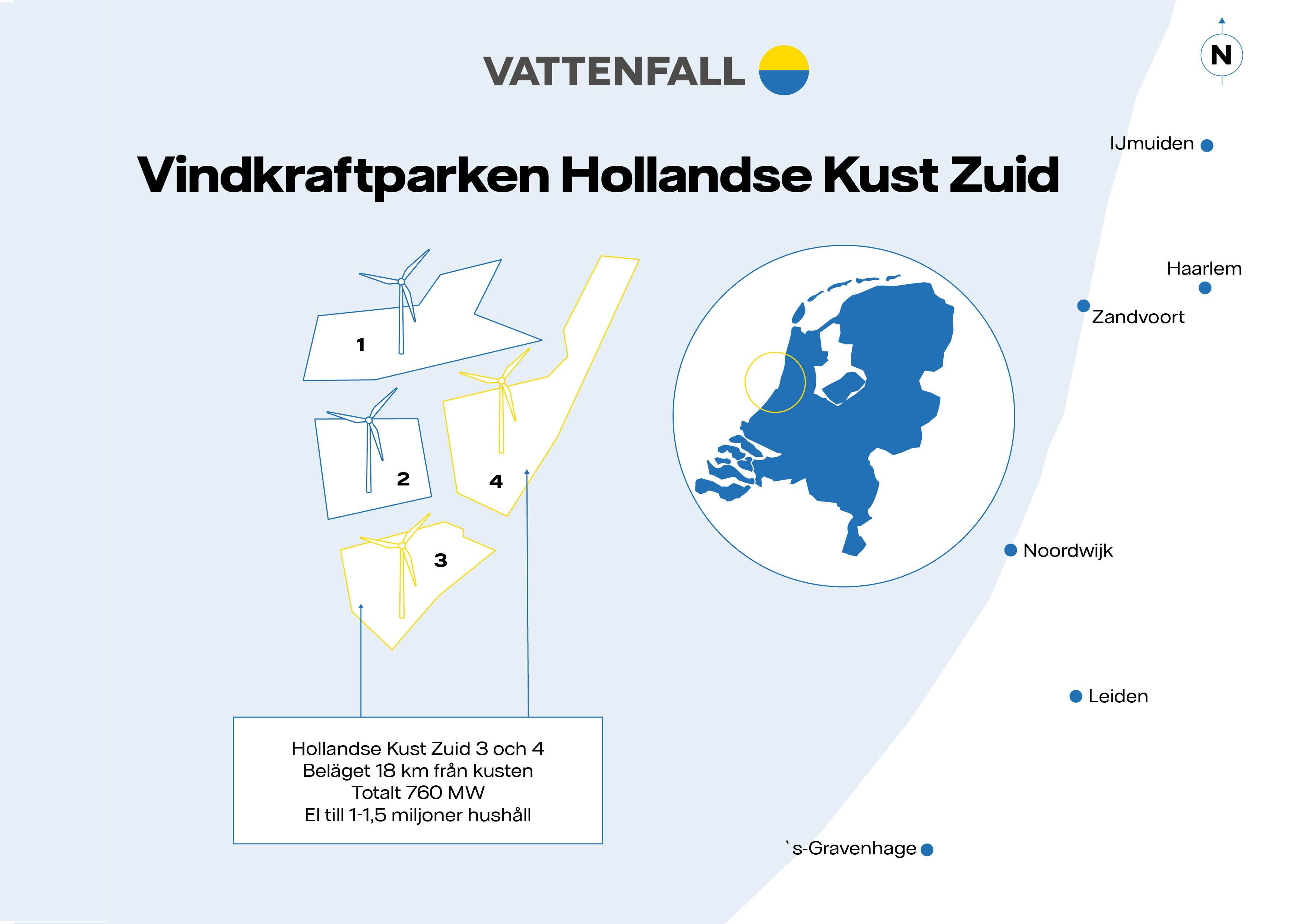 Karta Hollandse Kust Zuid 1-4