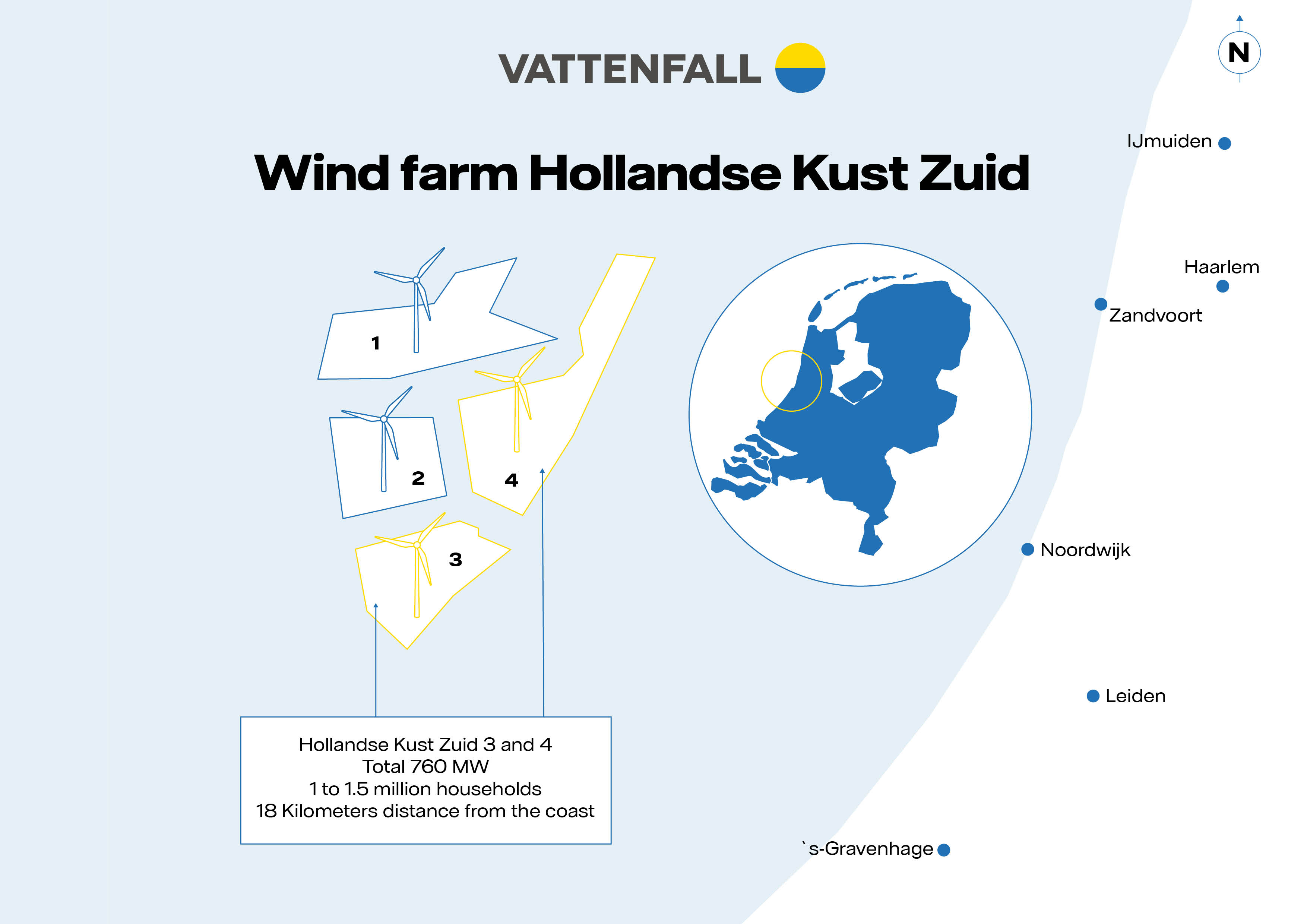 Map Hollandse Kust Zuid 1 - 4