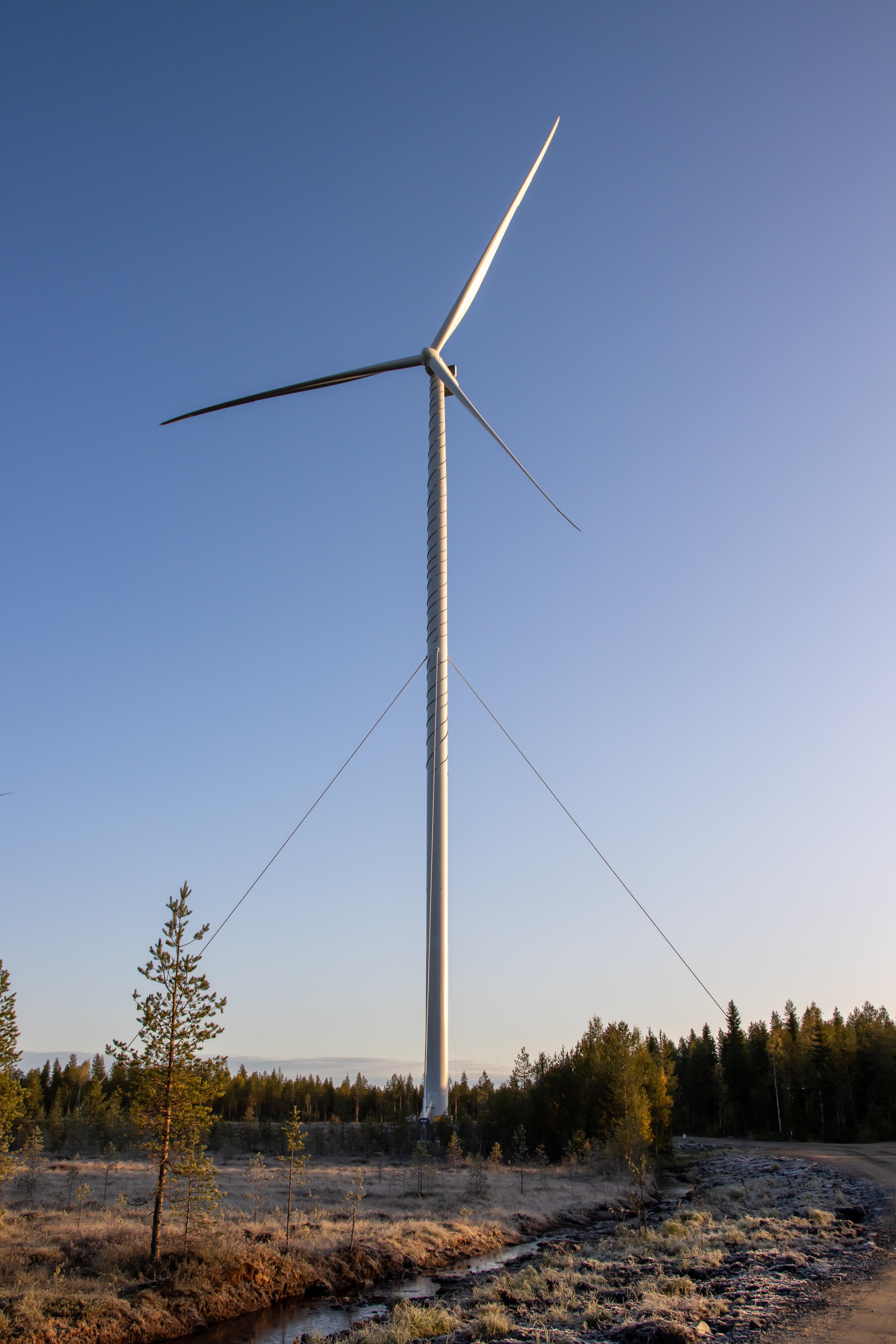 Vindkraftverk i Ii Viinamäki