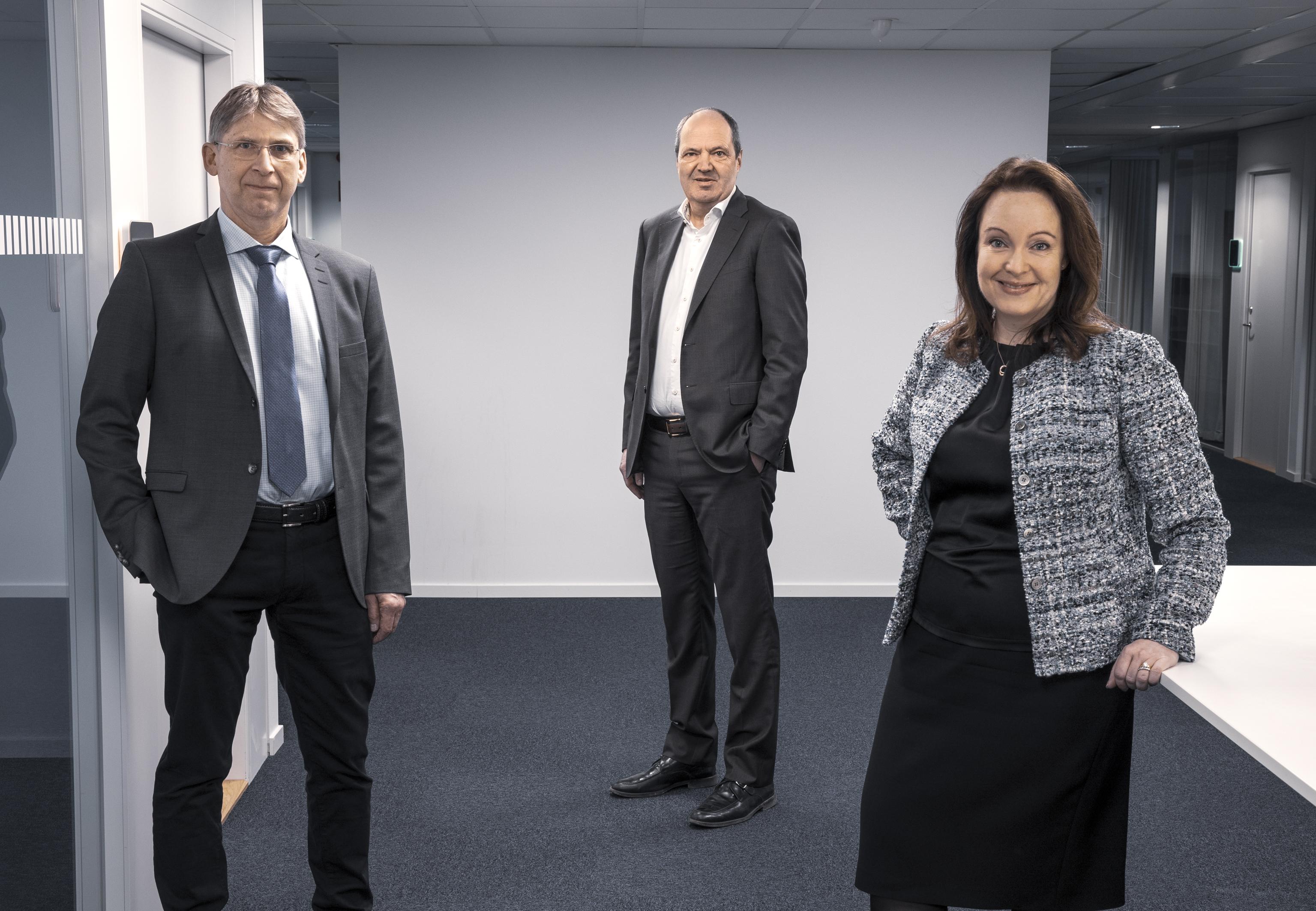 Jan Moström, vd och koncernchef LKAB, Martin Lindqvist, vd och koncernchef SSAB och Anna Borg, vd och koncernchef Vattenfall