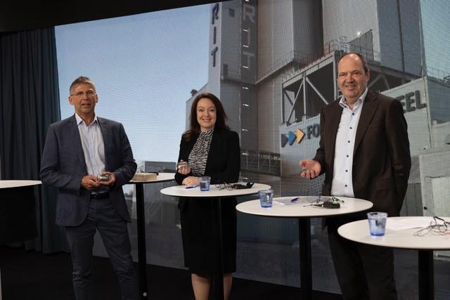 LKAB:s vd Jan Moström, Vattenfalls vd Anna Borg och SSAB:s vd Martin Lindqvist