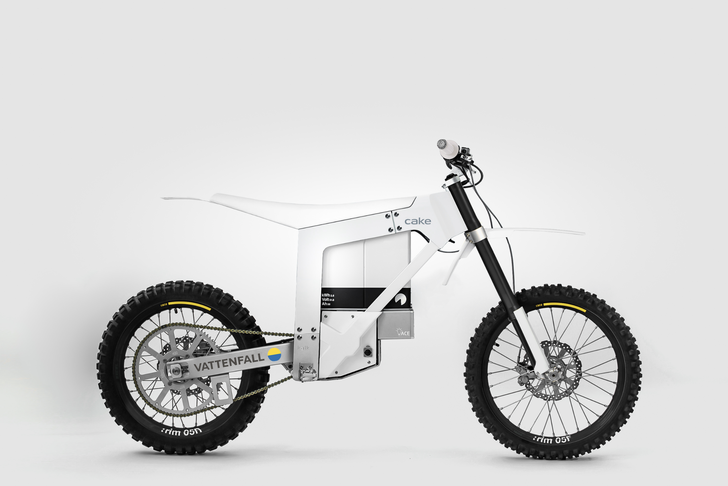 CAKE- och Vattenfall-motorcykel, första generationens prototyp