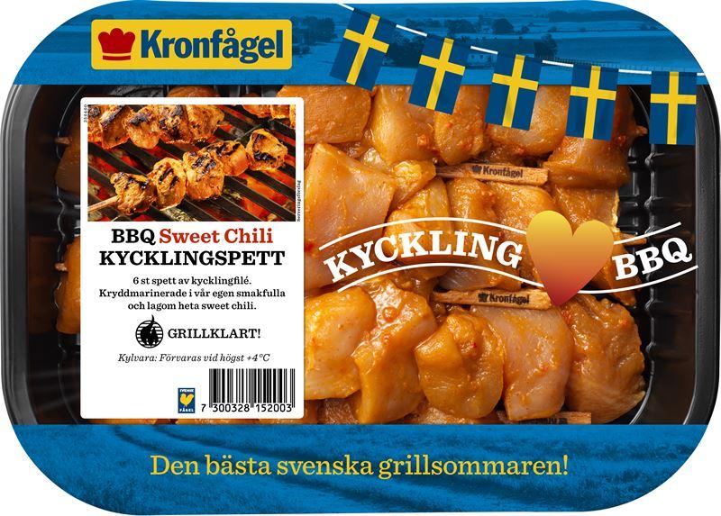 8152 Bbq Kycklingspett Sweet Chili 1 Kronfagel