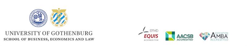Handelshgskolan vid Gteborgs universitet r en av endast drygt 70 handelshgskolor i vrlden  och den enda i Sverige  som r Triple Crownackrediterad dvs har de tre frmsta internationella ackrediteringarna fr handelshgskolor EQUIS AACSB och AMBA