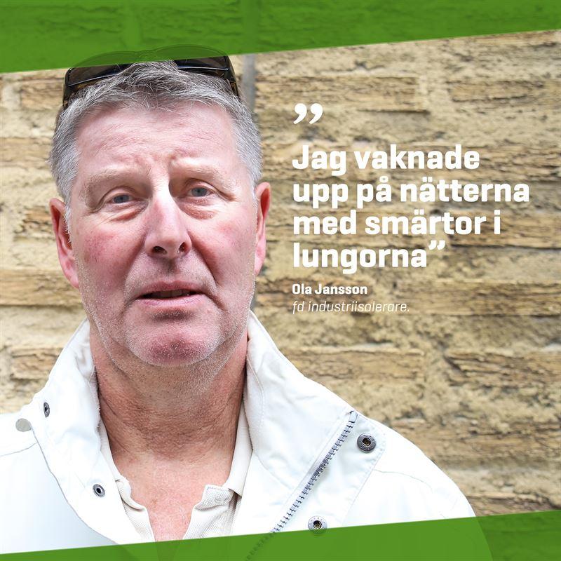 Ola Jansson byggnadsarbetare om lungsjukdom