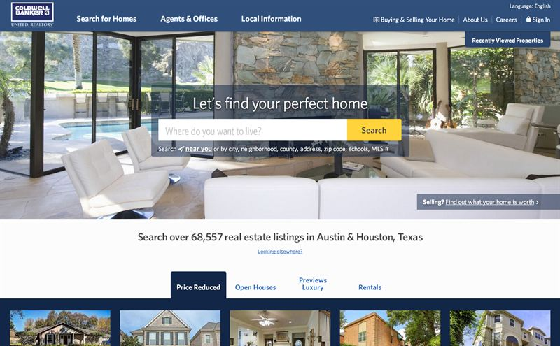 Coldwell Banker Residential Brokerage Launches New Website