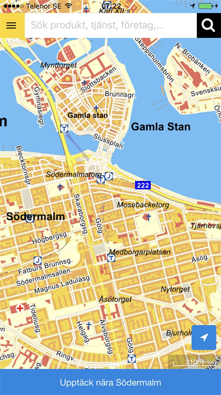 Enirotips IOS Eniro - Map sweden eniro