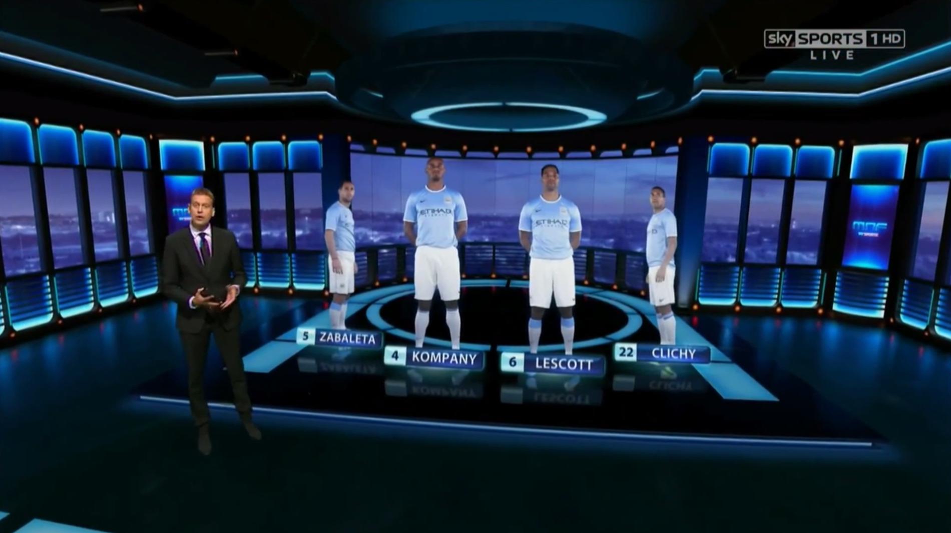 Viz Virtual Studio - Sky Sports virtual set - Vizrt global