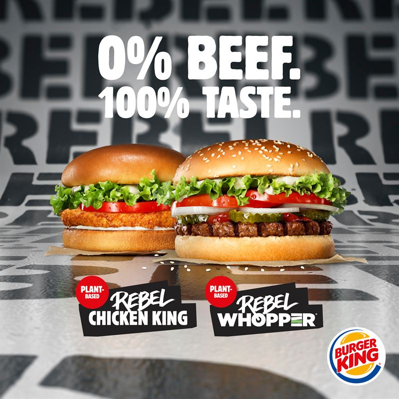 Sweden is first BURGER KING® market globally to launch their plant-based  burgers nationwide - Burger King