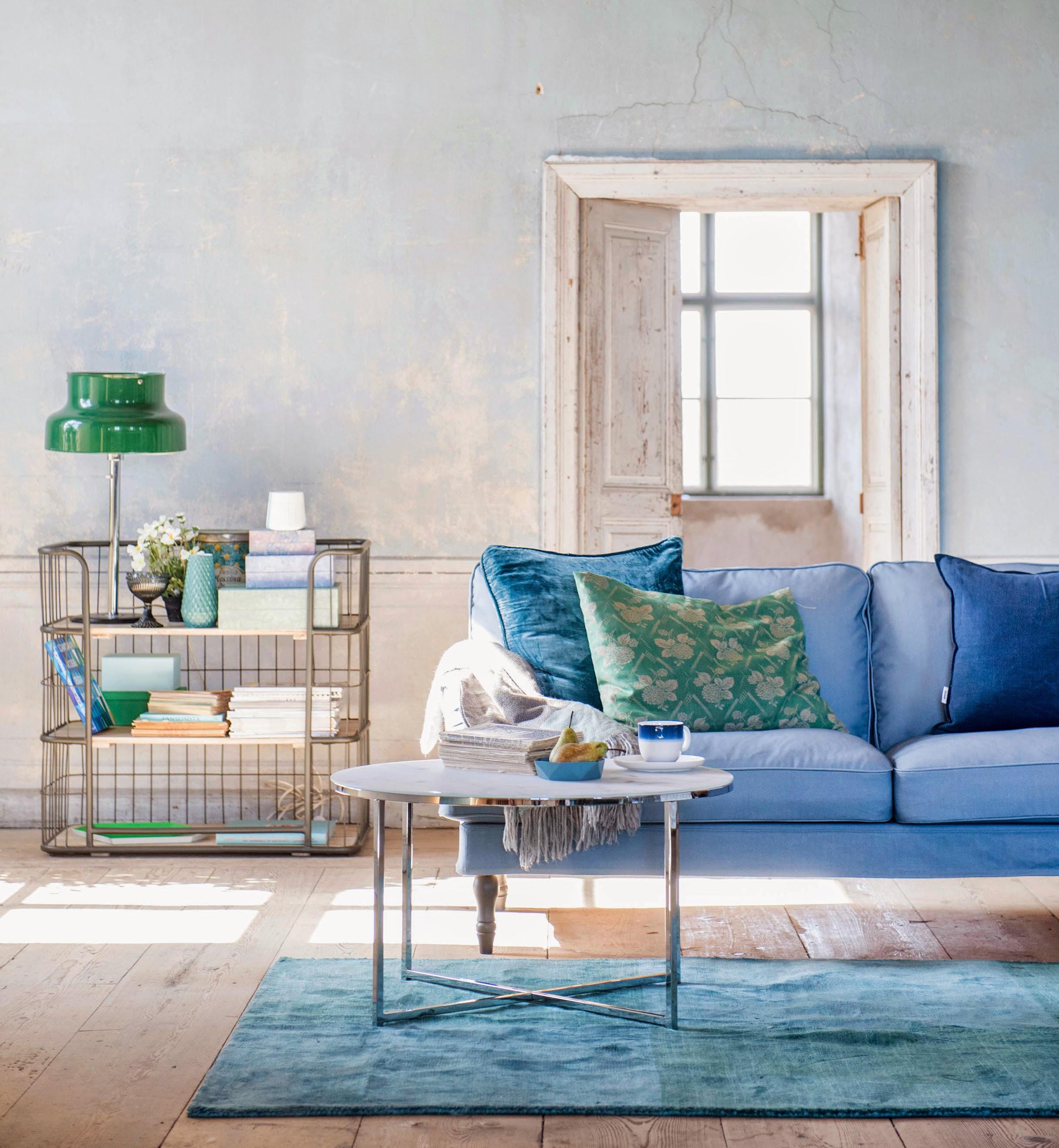 Steel Blue Stocksund sofa Bemz
