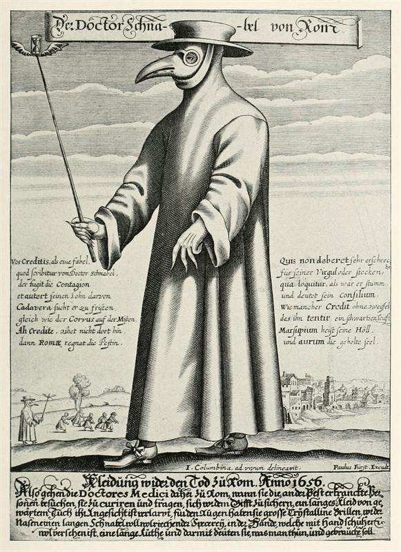 Der Doctor Schnabel von Rom Verk frn cirka 1656