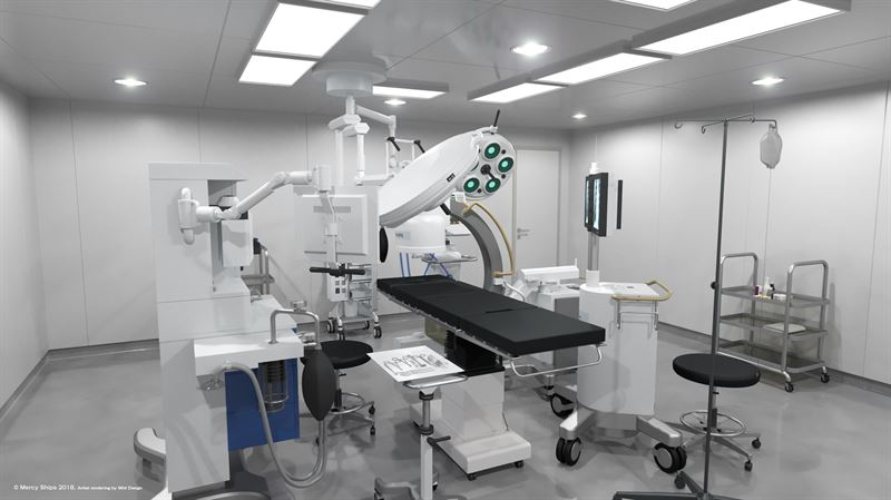 Global Mercy operating room rendering