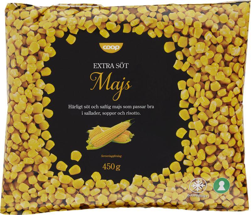 Coop frysta majskorn 450 gram