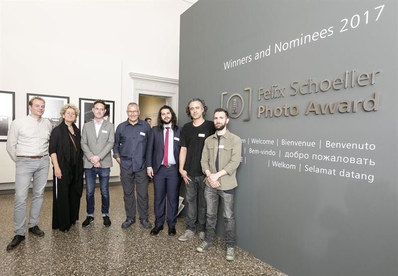 The winners of the Felix Schoeller Photo Award 2017 left to right Mario Brand Saskia Boelsums Matt Hulse Alain Schroeder Hosam Katan Guilherme Bergamini Rodrigo Illescas