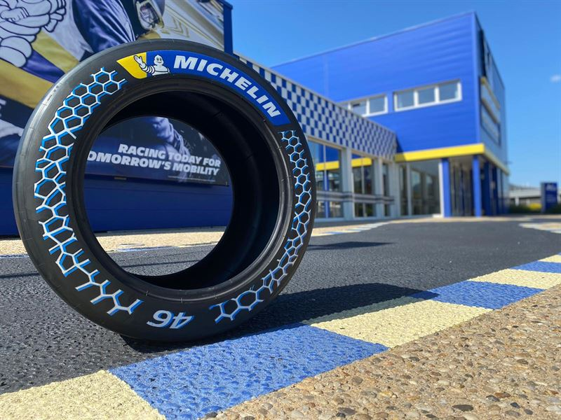 Michelin presents another sustainable racing tyre based on recovered carbon  black from Enviro - Scandinavian Enviro Systems