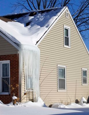 Usa Insulation Says Homes With Icicles Snow Melting On