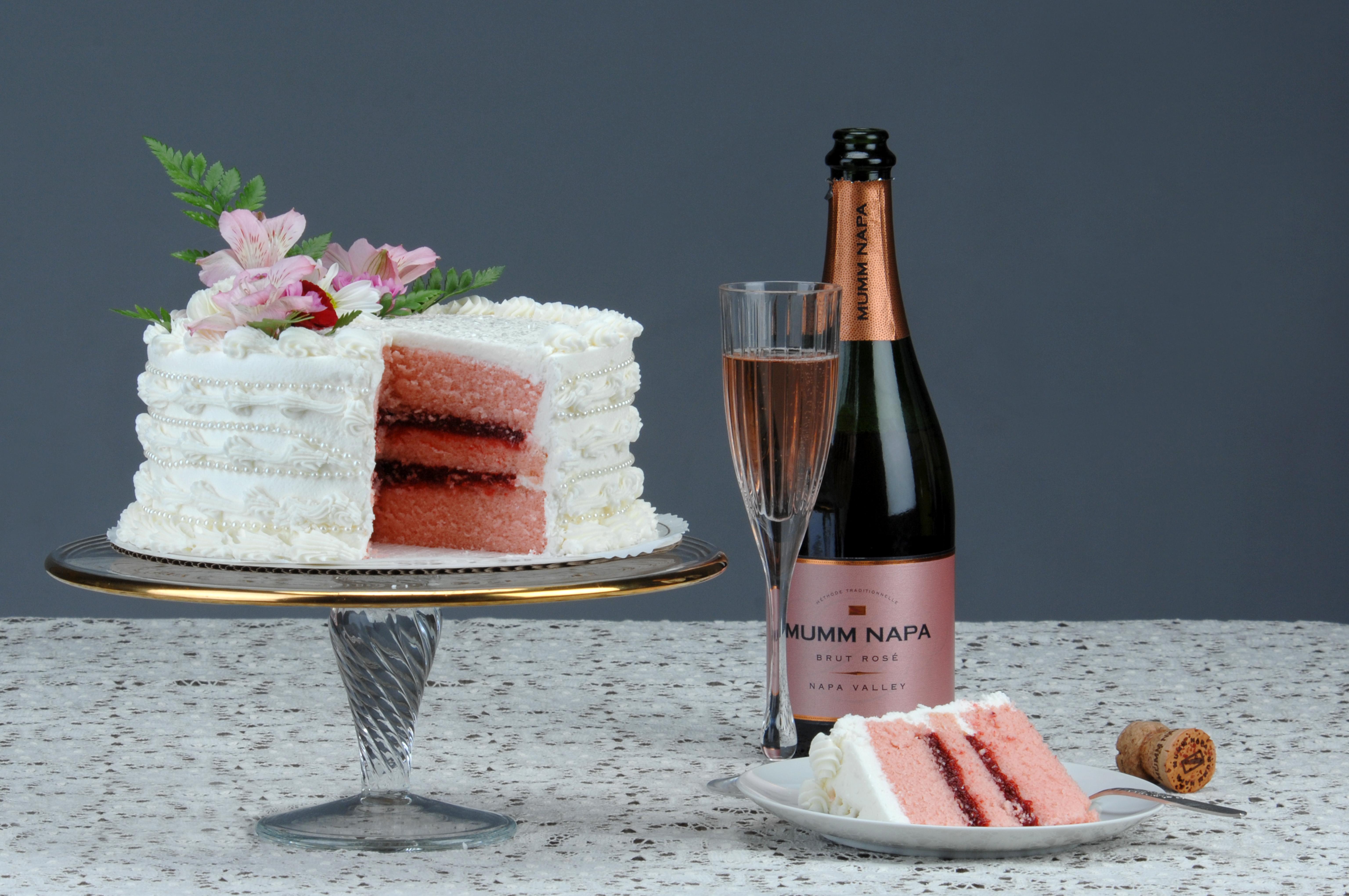 торт цветы шампанское картинки каталог