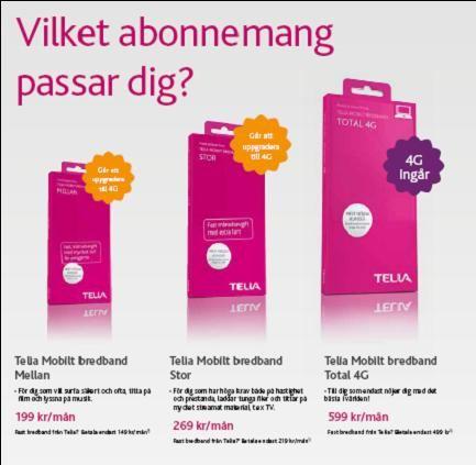 teliasonera mobilt bredband