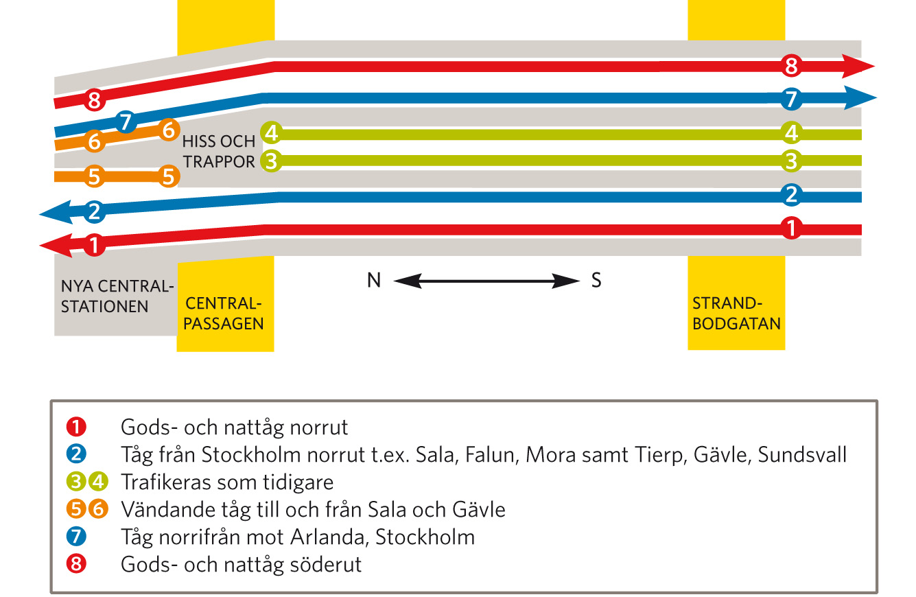 Karta Sundsvall Centralstation.Sparkarta Over Nya Uppsala Resecentrum Trafikverket