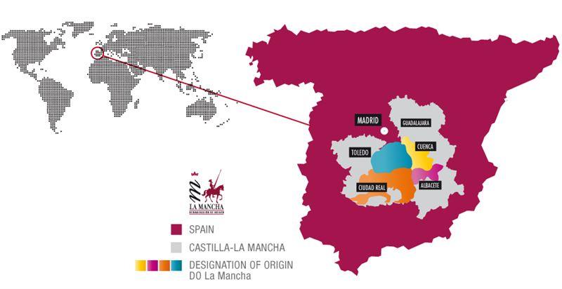 Map Of Spain La Mancha.La Mancha Map D O La Mancha