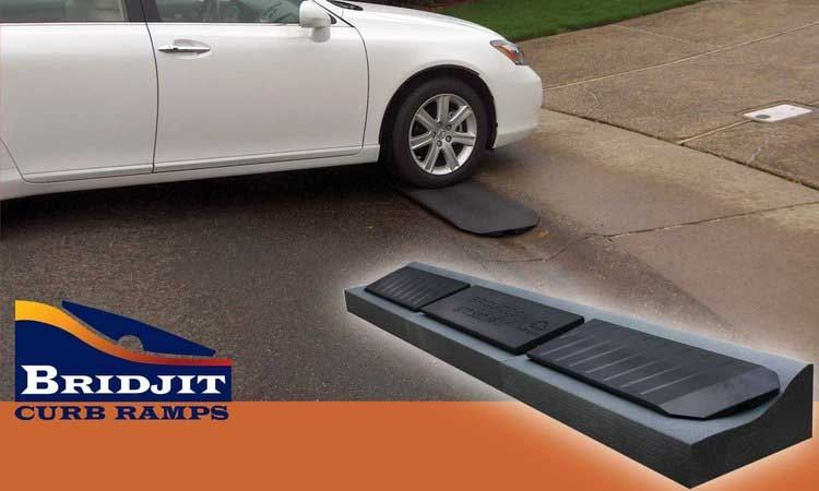 BRIDJIT CURB RAMPS HELP HOMEOWNERS WITH ROLLED CURB DRIVEWAY